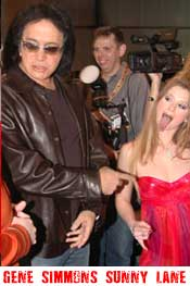 Gene Simmons and Sunny Lane