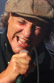 Brian Johnson of ACDC