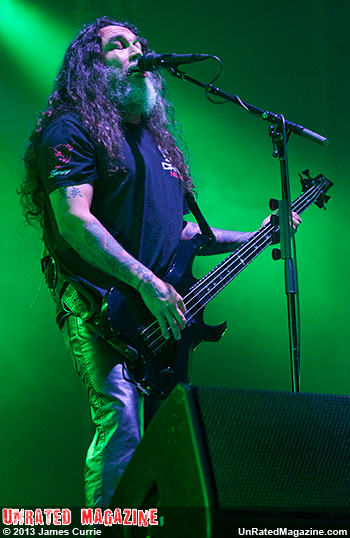 Tommy Araya of Slayer, photo credit James Currie